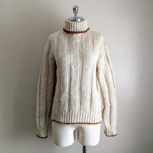 vintage 70's unisex wool blend turtleneck sweater