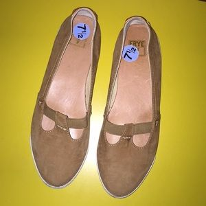 Frye Brown Leather Flats 7.5
