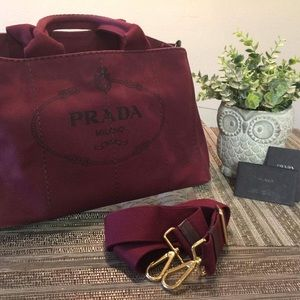 AUTHENTIC Prada Canapa Tote/Handbag
