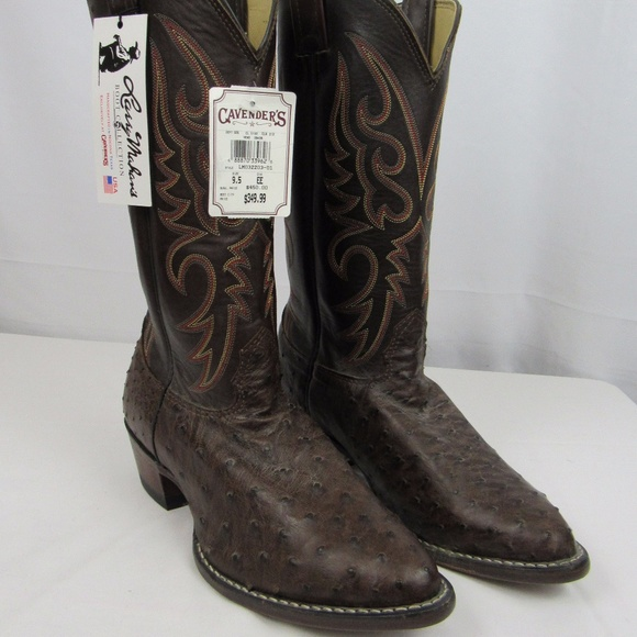 2a995ba6fb4 🇺🇸 Larry Mahan full quill ostrich boots 9.5 EE NWT
