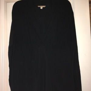 Black Long Sleeve V-Neck