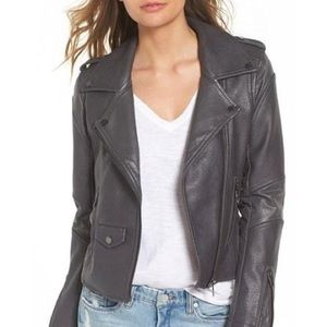 Blank NYC Faux Leather Easy Rider Moto Jacket Gray