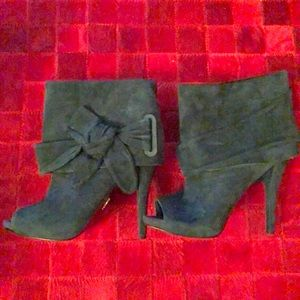 Green Suede booties by Rachel Roy, 8 1/2 worn once