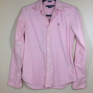 Ralph Lauren Women's Pink Oxford Button Down 8