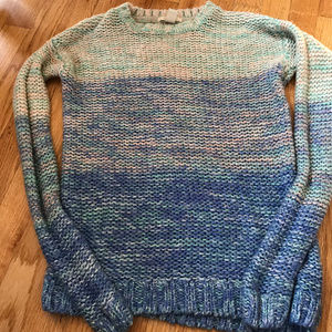 FOREVER 21 KNIT OMBRE LONG SLEEVE SWEATER S SMALL