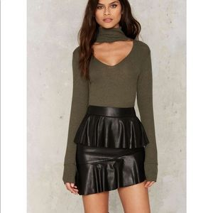 #59 💛 Juno vegan leather mini skirt