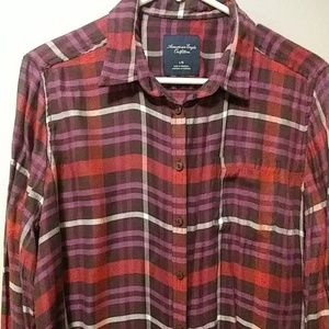 American Eagle plaid button down
