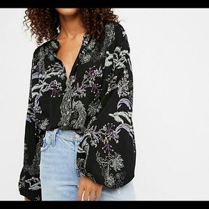 Free People Bloom Blouse Size L