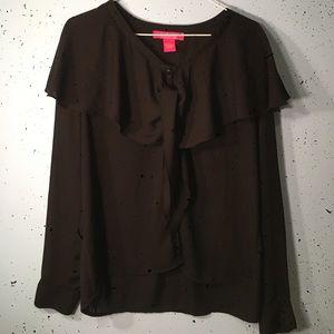 Catherine Malandrino tie blouse L