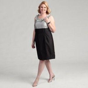 JESSICA HOWARD Colorblock Ruffle Neck Dress [A5]