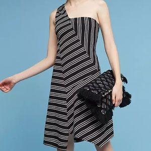 Anthropologie Maeve Moka Striped Dress Small