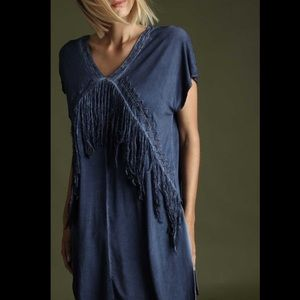 Super soft fringe tunic top