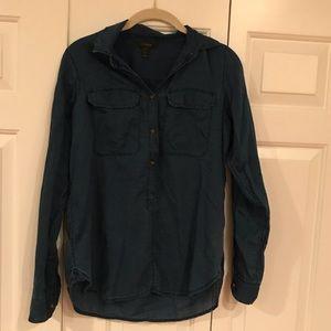 Jcrew chambray dark blue shirt
