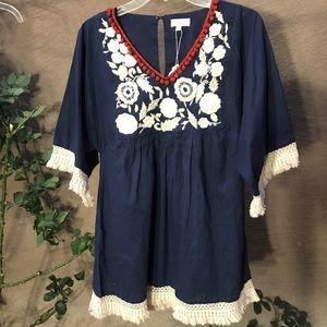 Velzera  tunic dress blue