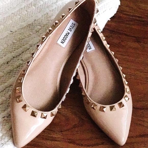 Steve Madden Shoes - Steve Madden Studded Flats {never been worn!}