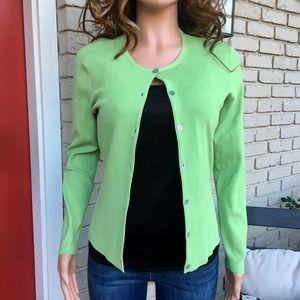 Worthington green cardigan