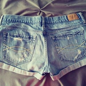 Abercrombie & Fitch Shorts - Blue jean shorts