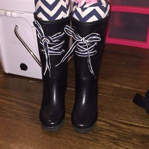 Sperry Topsider Tall wedge rain boots