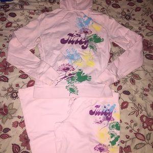 JUICY COUTURE   Blush Zip-Up Hoodie & Sweatpants