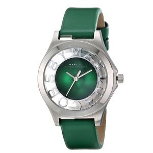 MARC by Marc Jacobs Green Skeleton Henry Watch