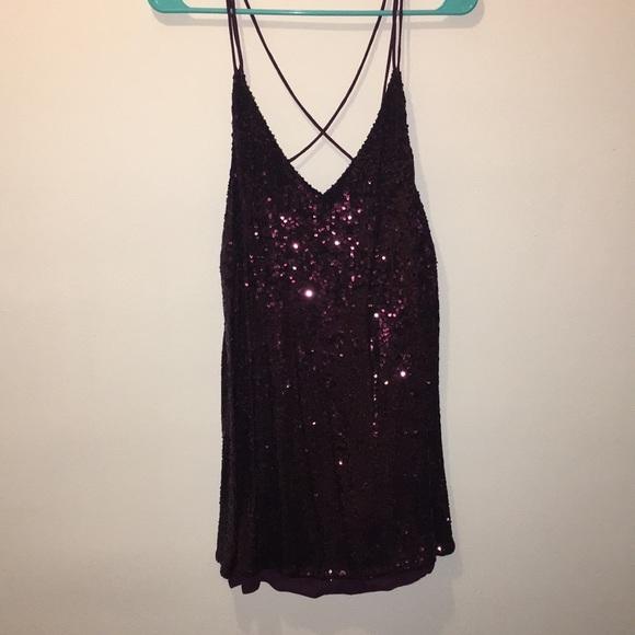 c0fb1e2148 Purple mini sequins dress