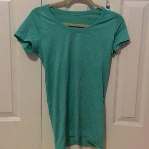 Lululemon teal run swiftly t-shirt sz 8 56229