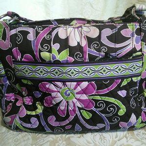 Black and purple Vera Bradley tote