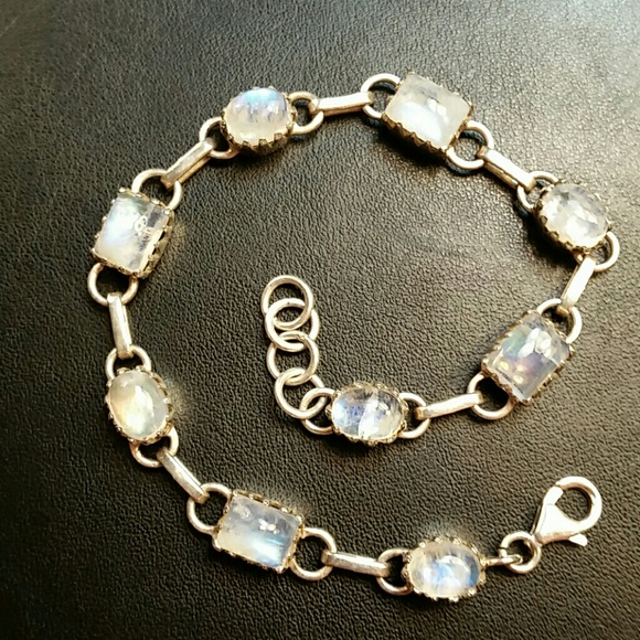 a5c16bfd9e715 Sterling Silver Rainbow Moonstone Bracelet