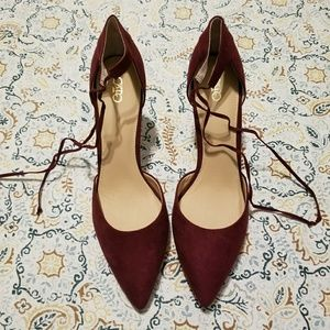 NWT Cato strappy tie heels