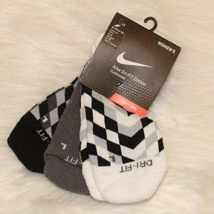 3 Pack Of Nike Dri-Fit ankle socks