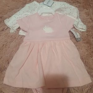 Baby girl dress with sweater