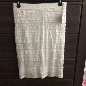 Dresses & Skirts - NWT White Lace Skirt Fully Lined