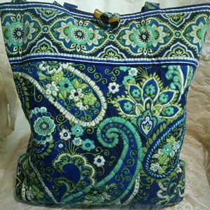 Blue and green Vera Bradley tote