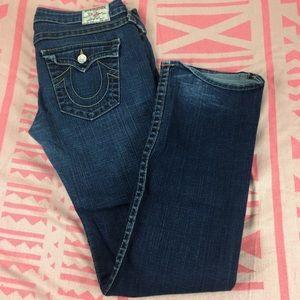 True Religion Billy Dark Wash Low Rise Jeans Sz 32