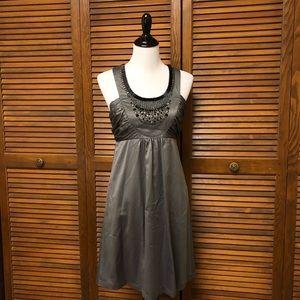 Kensie Beaded Dark Gray Dress
