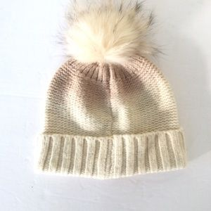 CC Exclusives Beige Pom Beanie