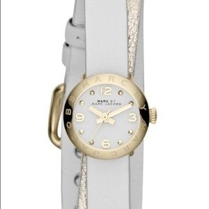 MARC by Marc Jacobs Amy Double Wrap Watch in White