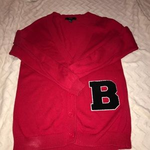 Forever 21 Red B Cardigan