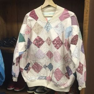 Vintage woman's patchwork sweater jacket