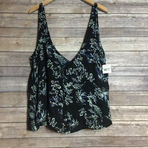 NWT Intimately Free People Blue Floral Crop Tank