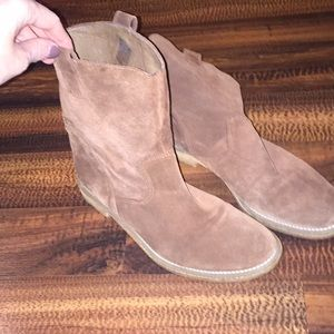 Leather Brown Suede Boots