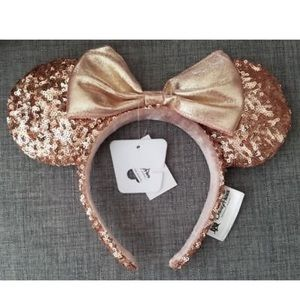 Disney Parks Rose Gold Minnie Ears