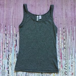 Divided by H&M gray cotton blend tank top small