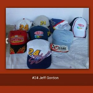 6 NWTs Nascar Racing Hats #24 Jeff Gordon