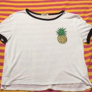 White pineapple crop top