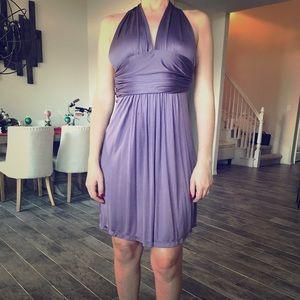 Silk dress halter top