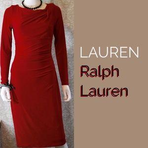 Ralph Lauren Red Work to Cocktail Dress Sz 4