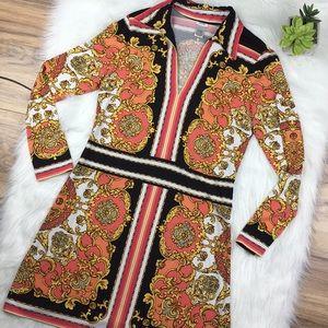 Cache Sz Large Long Sleeve Dress