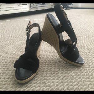 BANANA REPUBLIC Black Wedges/ Size 8.5