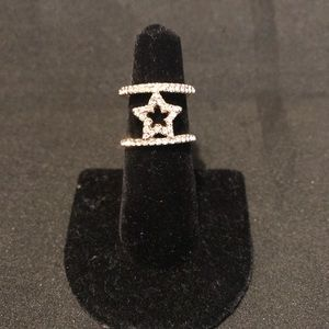 Jewelry - GOLD & CRYSTAL STAR RING